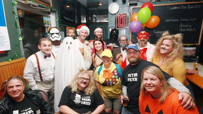 The BCMAMS Crawl-o-ween began at Lakeview Lounge Saturday evening and would move on to The Cricket, end at RiversEdge Ice Cream and Popcorn,