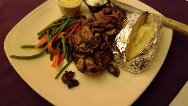 Steak from the Poplar Inn in West Bend.