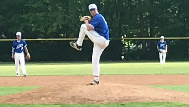 Millburn's Ben Chrzanowski comes on to pitch in the North 2, Group 4 final.