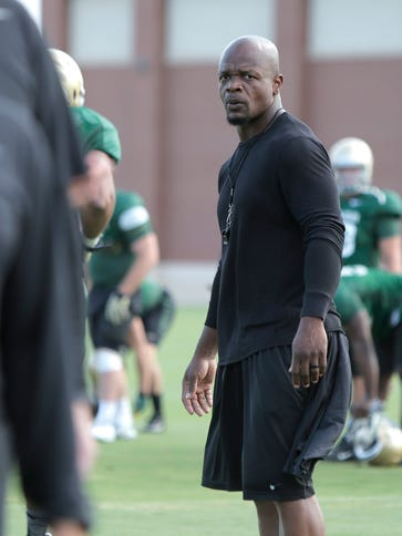 Baylor strength and conditioning coach Kaz Kazadi during