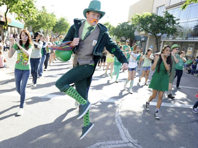The 2014 St. Patrick's Day Parade on Saturday in Downtown Visalia.