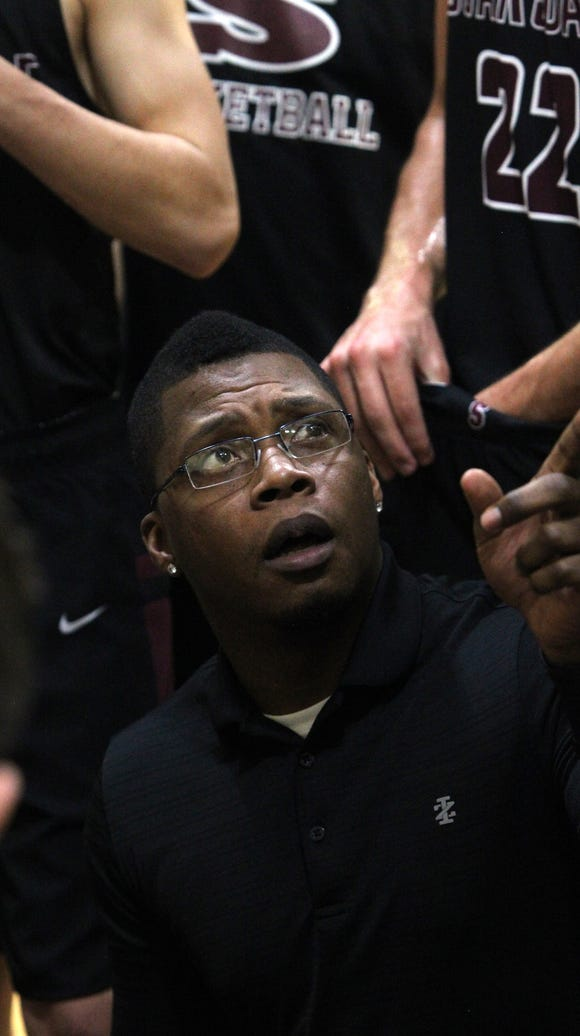 Scarsdale interim coach Justin Washington  during a