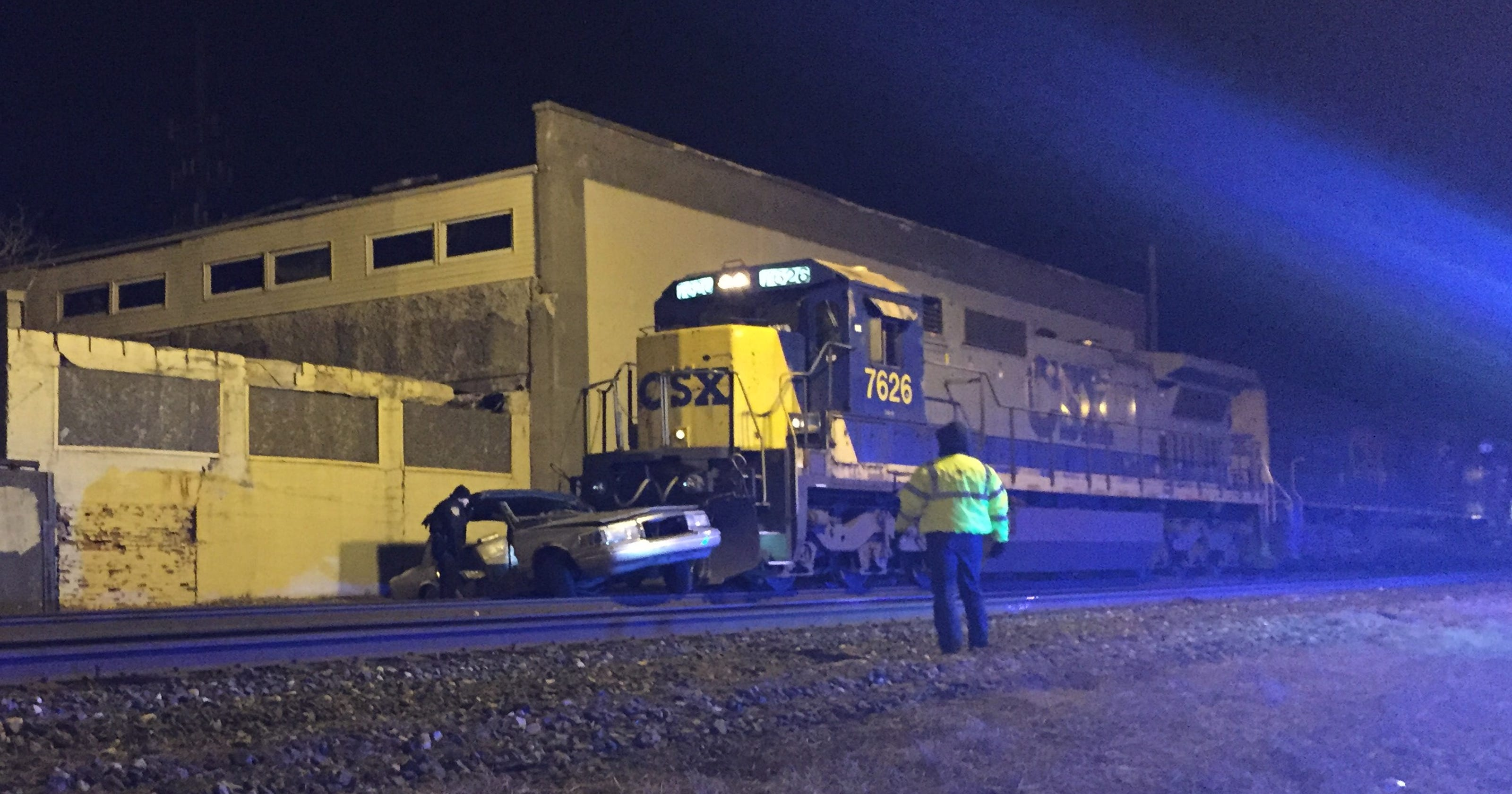 Train, car collide at Eastside crossing