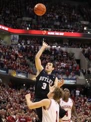 Butler guard Alex Barlow makes the game-winning shot