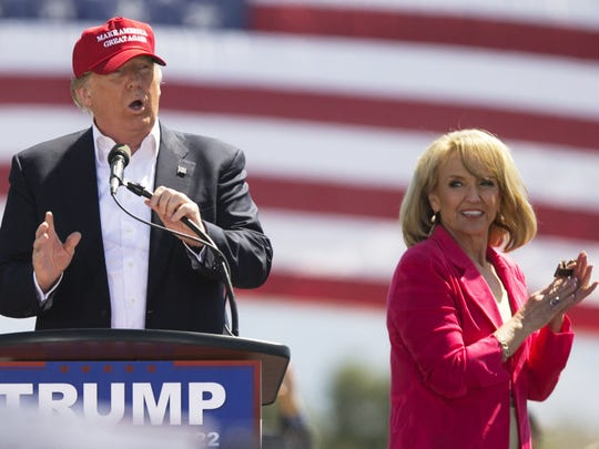 Former Gov. Jan Brewer with then-candidate Donald Trump