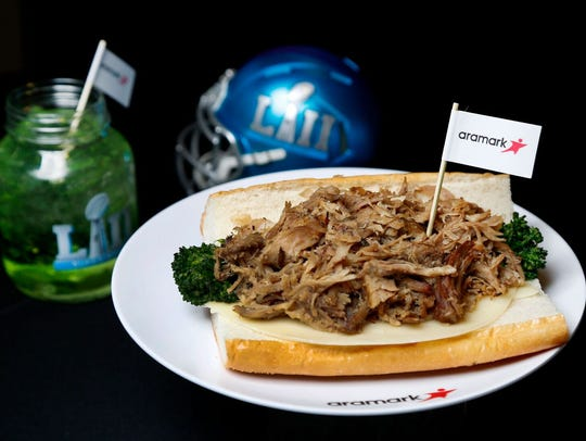 The South Philly Roast Pork Sandwich and Midnight Green