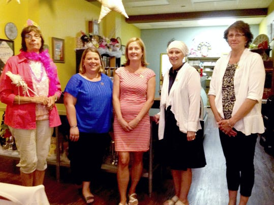 The Lebanon Valley Association for the Education of Young Children held its spring dinner at Timeless Café to honor award recipients. Pictured are award recipients, from left, JoEllen Meyer, Kristen Rittel, Nickie Feldenzer, Pam Hockey and Ann Rider.