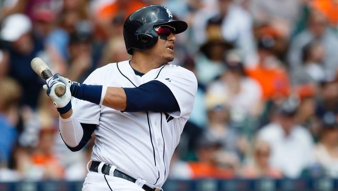 Detroit Tigers designated hitter Victor Martinez.