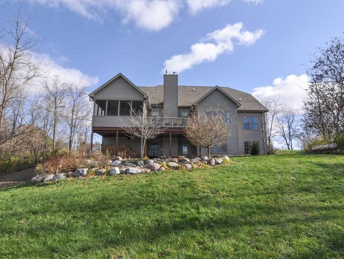 This 4,600 sq ft home sits on 19 acres with beautiful