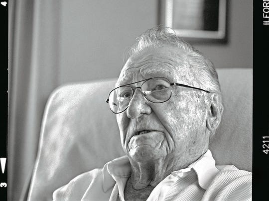 Don Stratton escaped with Lauren Bruner by climbing hand over hand on a rope to a neighboring ship after surviving a fireball that engulfed his battle station on the USS Arizona. He was discharged and reenlisted when he recovered. He turned down a stateside assignment to return to action in the South Pacific.