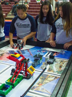 The FIRST LEGO League competition, sponsored by the Rotary Club of Guam, challenged teams against each other as they went head to head in robotics (strategy), core values (teamwork) and special projects (practice and preparation).