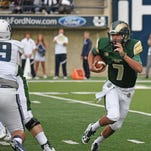 CSU quarterback Nick Stevens showed some mobility Saturday in the Rams' 33-18 loss at Utah State by scrambling for 38 yards on four carries, including a 15-yard touchdown run.