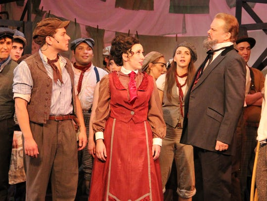 From left to right, Jonnie Carpathios as Jack Kelly,