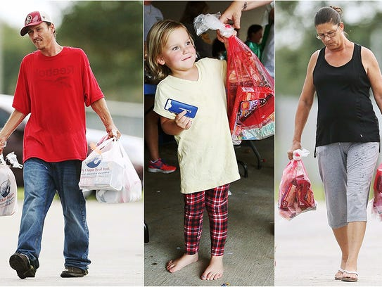 Glades County families receive food  recently from