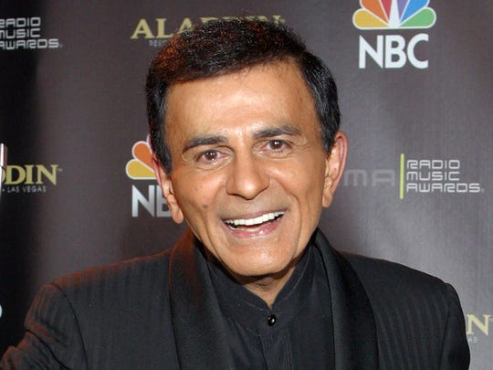 FILE - In this Oct. 27, 2003 file photo, Casey Kasem poses for photographers after receiving the Radio Icon award during The 2003 Radio Music Awards at the Aladdin Resort and Casino in Las Vegas. A judge has expanded the powers of Casey Kasem?s daughter to determine whether her father is receiving adequate medical care and says he still has concerns about the ailing radio personality?s health and welfare. On Tuesday, May 20, 2014, Los Angeles Superior Court Judge Daniel Murphy ordered Kasem?s wife to comply with court orders allowing doctors to evaluate her husband, and also be seen by his daughter Kerri. (AP Photo/Eric Jamison, File)