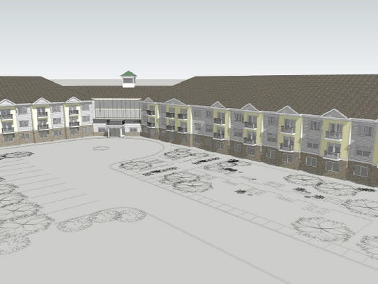 Artist rendering of senior housing proposed by the Greenburgh Housing Authority for Manhattan Avenue.