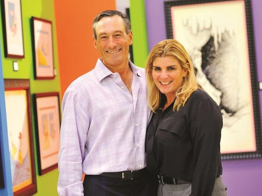 Dr. Charles and Kathy Theofilos celebrate the opening of the Jupiter Medical Center'S DeGeorge Pediatric Unit.