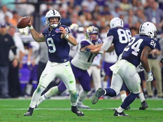Penn State quarterback Trace McSorley was voted the