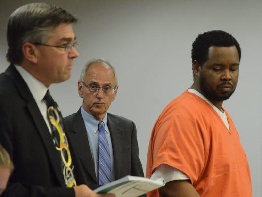 Calhoun County Prosecutor David Gilbert, from left,