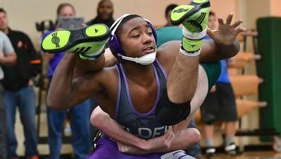 Elder's Charles Sanders competes Saturday afternoon for the Panthers.