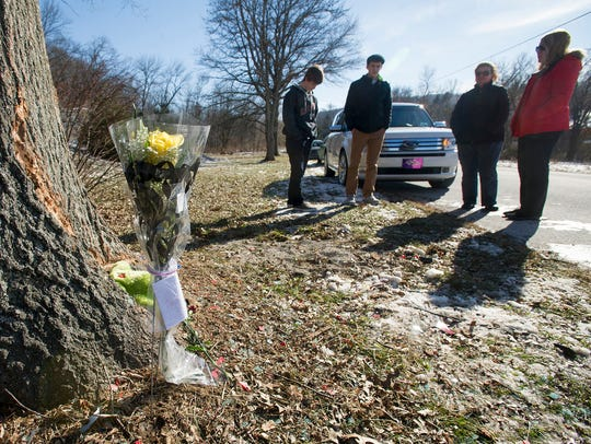 Friends and witnesses gathered at the site of a Jan.