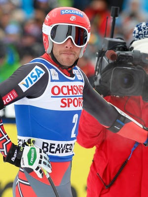 Bode Miller reacts after his run in the men's super-G on Saturday.