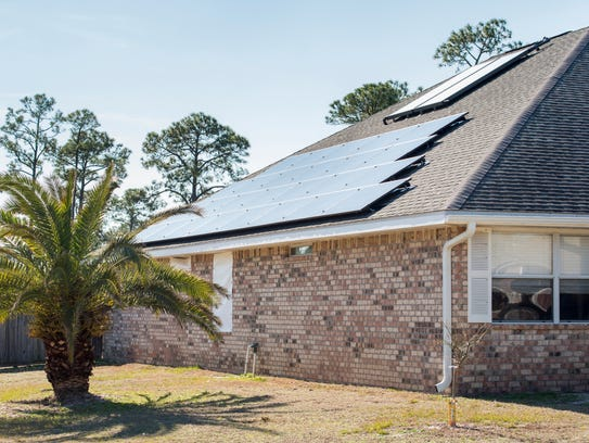 Lynn Bryson-Goodwin recently installed solar panels