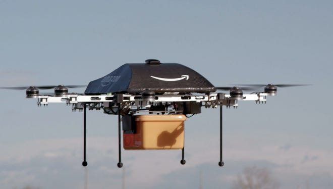 Amazon.com is studying drone deliveries, but says it will take years to advance the technology and for the Federal Aviation Administration to create the necessary regulations.