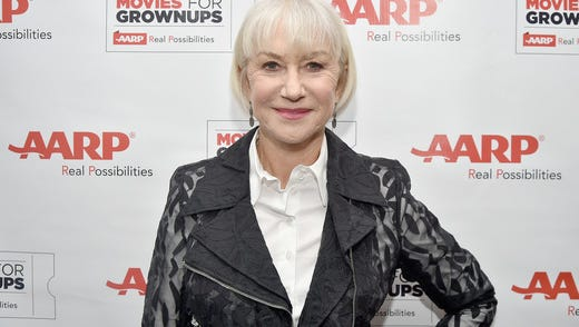 Helen Mirren at a celebratory luncheon hosted by 'AARP The Magazine' and AARP Movies for Grownups honoring the actress and cover girl of their December/January issue.