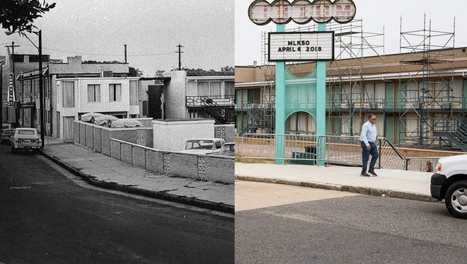 A few of the Lorraine Motel in 1968 and in 2018.