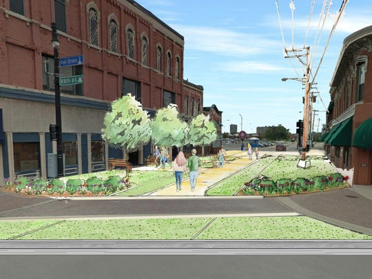Port Huron city officials are in the very early stages of discussing a concept to turn the first block of Quay Street east of downtown's main street into a scenic pedestrian walkway as part of a planned reconstruction of Quay and Michigan streets. A special Downtown Development Authority meeting has been scheduled for Wednesday.