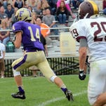 Nick Semke (6) scored four total touchdown -- three passing and one rushing -- in the Glads' 38-20 win over Dexter.
