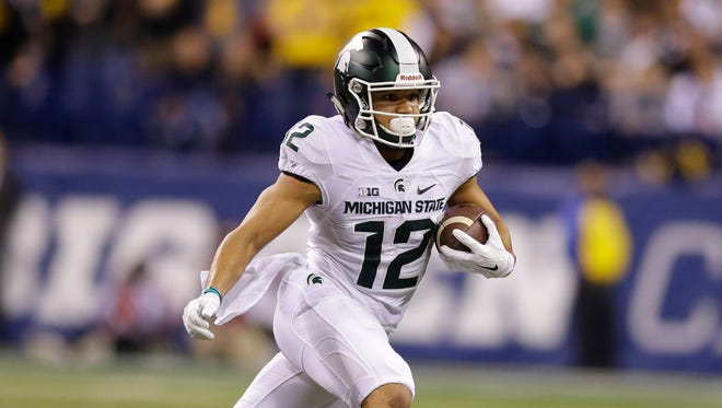 Michigan State receiver R.J. Shelton.