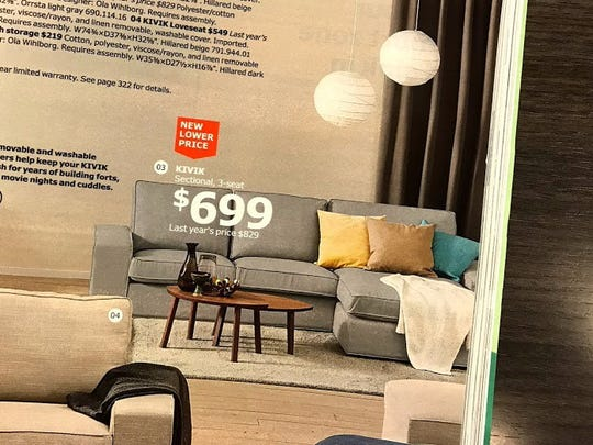 Ikea's Kivik sectional sofa.