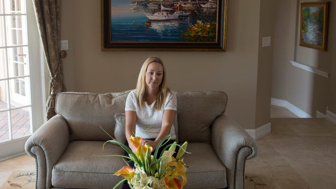 """""""The environment is especially important to me here in Brevard,"""" said Emily Mollen, an Indian Harbour Beach entrepreneur and IT consultant, seen May 9, 2018 in her home. """"I live on the grand canal, which is part of the Indian River Lagoon waterway system. And I actually happen to live right across from the spot where the 20 million gallons of raw sewage was dumped after Hurricane Irma. So I'm especially passionate about participating in efforts to clean up the lagoon and restore our shores."""""""