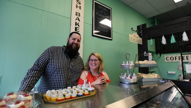 Mike and Madison Welker own The Confectionary a new bakery in downtown Lancaster. The Confectionary will feature cupcakes, brownies, cookies, mini pies, coffee, and tea, among other things. Full-size pies can be specially ordered.