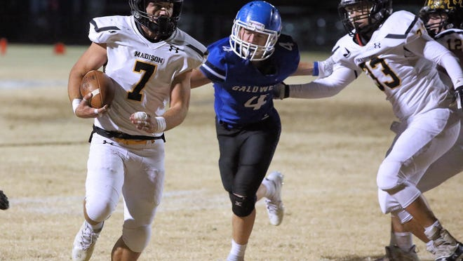 Hunter Engle and Madison have rolled to a 10-0 mark heading into Friday's huge Eight-Man Division I showdown with No. 1 and defending state champion Canton-Galva.
