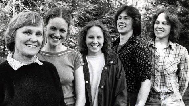 May 2, 1980: Ellen Luthin of Rivervale with four of her seven children, Allison, 22, Beth, 17, Chris, 18, and Marion, 16.
