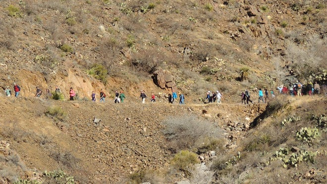 Hikers can enjoy a hike at the Franklin Mountains State Park on New Year's Day as part of the First Day Hikes, sponsored by the Texas Parks & Wildlife Department.