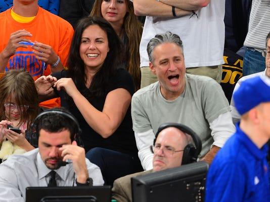 Tracey and Jon Stewart