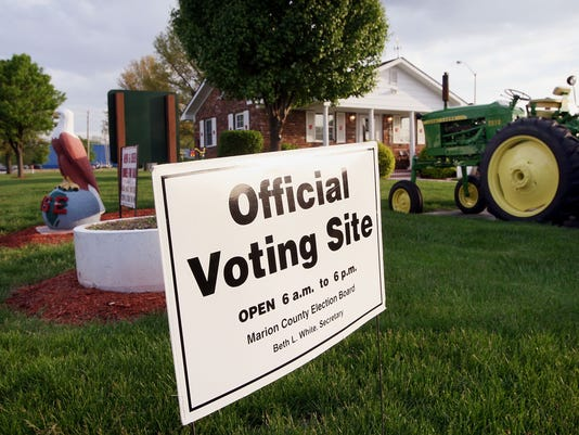 GTY INDIANA VOTERS HEAD TO THE POLLS FOR THE STATE'S PRIMARY A ELN USA IN