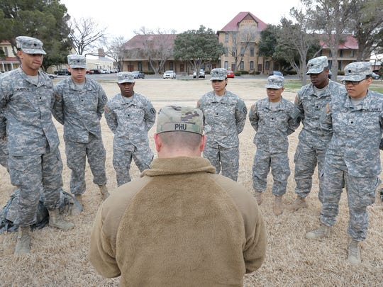 Soldiers in Dental Command-Central's Best Warrior Competition receive instructions. See more photos at elpasotimes.com/news/fort-bliss.