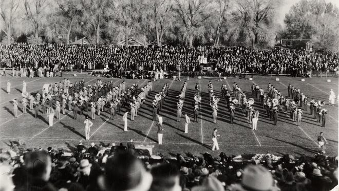 A scene from Colorado Field in 1937.