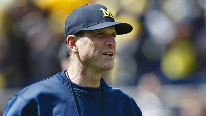 Michigan coach Jim Harbaugh.