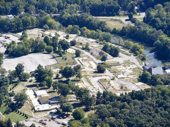 An aerial photo of the former Texaco Research Center
