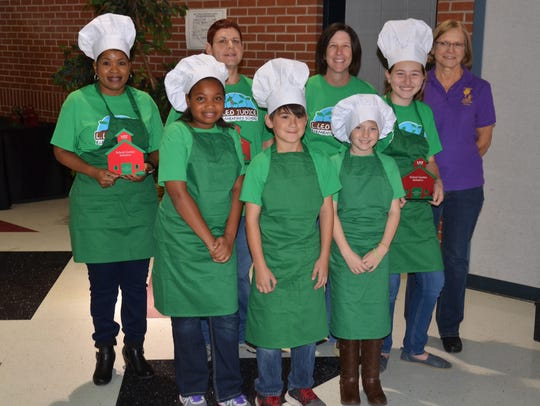 The team from L. Leo Judice Elementary took second