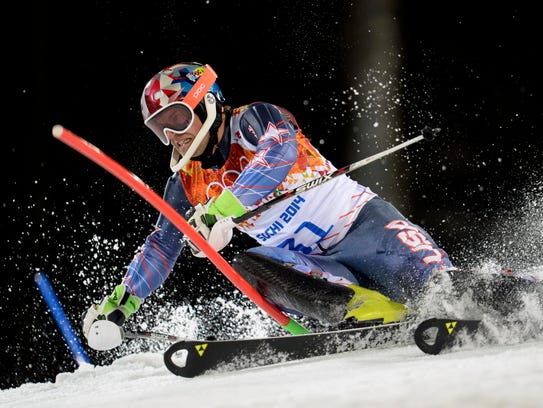 Nolan Kasper (USA) competes in the second run of men's