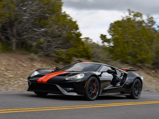 The 2017 Ford GT on a road near the Utah Motorsports