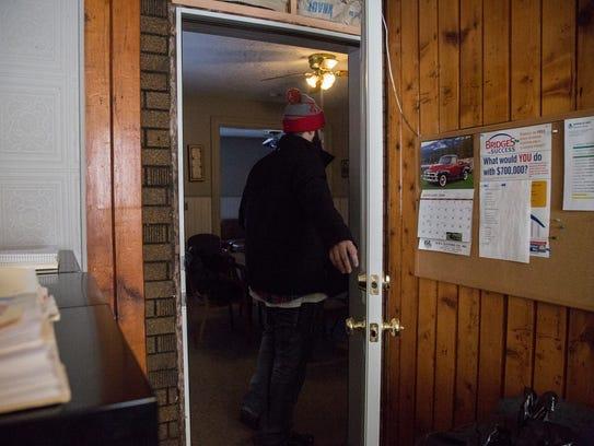 Joseph Byrkett, house manager at Harbor of Hope leaves