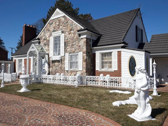 """Lion Gate Estate"" on Grixdale Ave. in Detroit on Friday,"